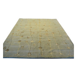 1800-Get-A-Rug - Light Green Modern Nepali Wool and Silk Hand Knotted Rug Sh8588 - About Modern & Contemporary