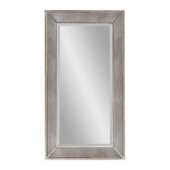 Large Antique Silver Rectangle Wall Mirror