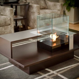"""Decorpro - Level Compact Tabletop Bio Ethanol Fireplace - Level compact coffee table is the perfect size for a condo or a small cottage. Small enough to fit but still big on impact. Bring the ambiance of a fireplace with ease right into your home. No mess to clean up and is clean burning. Features: -Tempered glass.-Four panes of glass offer additional wind protection.-Suitable for indoor use.-Includes an extinguisher for extinguishing ethanol fuel canisters.-Steel and glass construction.-Distressed: No.-Material: Steel/Glass.-Tabletop Fireplace: No.-Country of Manufacture: Canada.-Collection: Furniture.-Powder Coated Finish: Yes.-Gloss Finish: No.-Hardware Material: Steel.-Freestanding Fireplace: Yes.-Wall Mounted Fireplace: No.-TV Stand Fireplace: No.-Plug In: No.-Number of Burners: 1.-Fuel Capacity: 12oz can.-Burn Time of Fuel Accommodated: Will burn 2.5-3.5 hours with the Organica or Sunjel Fuel Canister.-Adjustable Temperature: No.-Adjustable Flame: No.-Flickering Flame Effect: No.-Flame Operational Without Heat: No.-Thermal Overload Protection: No.-Safety Shut Off: No.-Air Filter: No.-Built In Fan: No.-Mantel: No.-Remote Control: No.-Timer Function: No.-Swatch Available: No.-Commercial Use: Yes.-Eco-Friendly: No.-Product Care: Keep indoors or in a covered area. Do not expose to elements..Specifications: -ISTA 3A Certified: No.-CSA Certified: No.-Carb 2 Certified: No.-TUV Certified: No.-KTL Certified: No.-ETL Certified: No.-CETL Certified: No.-UL Certified: No.-CUS Certified: No.Dimensions: -Overall Height - Top to Bottom: 40"""".-Overall Width - Side to Side: 24"""".-Overall Depth - Front to Back: 24"""".-Overall Product Weight: 106 lbs.-Firebox Height - Top to Bottom: 18.25"""".-Firebox Width - Side to Side: 12.63"""".-Firebox Depth - Front to Back: 12.63"""".Assembly: -Assembly Required: Yes.-Tools Needed: Screw Driver.-Additional Parts Required: No.Warranty: -Manufacturer provides one year warranty against manufacturing defects."""