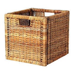 IKEA of Sweden - Branäs Basket, Rattan - is completely unique. They're great alternatives to standard drawers and file cabinets — and serve the same great organizational purposes.