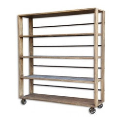 Salvaged Wood Bookcase - CDI. 71w x 20d x 78h . Available for order at Warehouse 74.