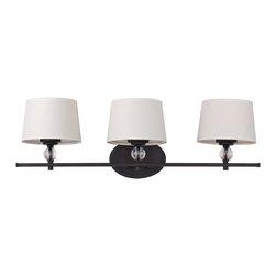 Maxim Lighting - Maxim Lighting 12763 Rondo 3 Light Vanity - 3 Bulbs, Bulb Type: 60 Watt Incandescent