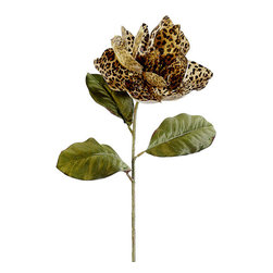 Silk Plants Direct - Silk Plants Direct Glitter Leopard Print Magnolia (Pack of 12) - Pack of 12. Silk Plants Direct specializes in manufacturing, design and supply of the most life-like, premium quality artificial plants, trees, flowers, arrangements, topiaries and containers for home, office and commercial use. Our Glitter Leopard Print Magnolia includes the following:
