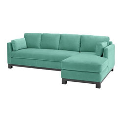 Avalon 2-piece Sectional Sofa, Sixties Blue, Chaise on Left