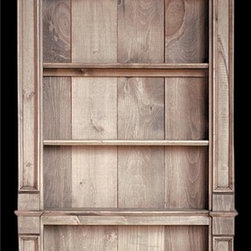 British Traditions - Country Pantry Display Shelves, Antique Blue - Finish: Antique Blue. Each finish is hand painted and actual finish color may differ from those show for this product. Country pantry. 4 Upper shelves and 3 lower shelves. Shallow interior for canned goods. Interior size: 27 in. W between face frames, 32 in. W behind face frames. 5 in. D x 47 in. H top, 23.25 in. H base. 37 in. W x 6.5 in. D x 82 in. H (73 lbs.)Simple and refined, the Brighton Pantry Shelf is elegant enough to grace the pantries of the Royal Pavilion itself - and equally well suited for the home kitchen or the commercial display of gourmet delights, sundries and such. The piece comes with five adjustable shelves, all with plate grooves.