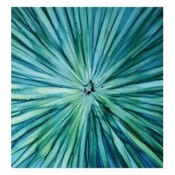 Handmade / Direct from Artist Jon Allen - Blue Green Dream - Original Abstract Painting by Jon Allen - Blue Green Dream - Original Abstract Painting by Jon Allen