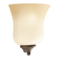 Kichler - Kichler Wedgeport 1-Light Olde Bronze Wall Light - 6086OZ - This 1-Light Wall Light is part of the Wedgeport Collection and has an Olde Bronze Finish.