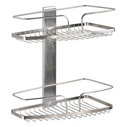 FineLine Shower Organizers - Fineline 2-Tier Basket Stainless Steel - FineLine 2 Tier Basket Stainless Steel. Shower organization is made quick and easy from Better Living Products.