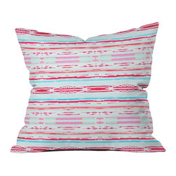 DENY Designs - Hadley Hutton Floral Tribe Collection 6 Throw Pillow - Wanna transform a serious room into a fun, inviting space? Looking to complete a room full of solids with a unique print? Need to add a pop of color to your dull, lackluster space? Accomplish all of the above with one simple, yet powerful home accessory we like to call the DENY throw pillow collection! Custom printed in the USA for every order.