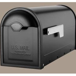 The Winston - The Winston body is durably made from galvanized steel for longevity then fully powder coated in a black or oil rubbed bronze finish with contrasting nickel flag. The textured molded resin frame has an integral domed pull-style handle. To find a dealer near you please visit: http://www.architecturalmailboxes.com/where-to-buy/default.aspx