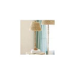 Tasseau Floor Lamp Base with Seagrass Shade - Ballard Designs -
