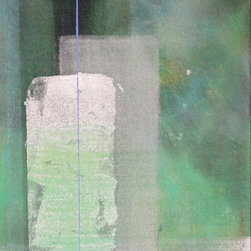 Casarietti Studio - Into the Garden 12 x 36 original painting aqua, blue and green - ''Into the garden'' is an original 12 x 36, collaborative, abstract acrylic painting. As the painting evolves into being, thoughtful compositions arise, colors and textures emerge. Michelle & Robert use many layers of paint; shades of aqua blues, purples, silvers and greens creating a variety of thicknesses and textures.  This piece is meant to bring beauty and calm wherever it is placed, allowing the viewer to take time to simply be. Gallery-wrapped canvas has edges painted to match the front of the piece. Signed on the back and ready to hang. We do custom sizes and colors just contact us.
