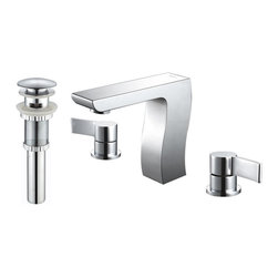 Kraus - Kraus Sonus Three-hole Basin Faucet and Pop Up Drain with Overflow Chrome - *At Kraus, we use various elements of design to impress and make a statement in order to turn your private space into a truly unique one