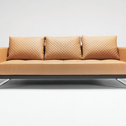 Cassius Deluxe Sofa Sleeper - Innovation - Full size sofa bed equipped with Icomfort pocket spring. Legs in chromed steel.Designed to be appealing from all angles, you can place this sofa anywhere in the room and fold out into a sofa bed. Cassius Deluxe Sofa Sleeper comes in white, camel, or black leather textile.