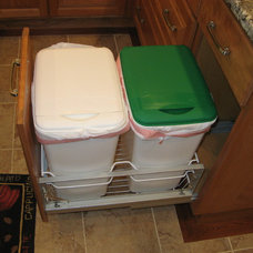 Traditional Kitchen Trash Cans by S & S Custom Cabinets Inc