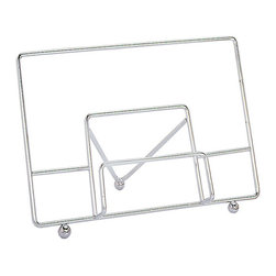 Fox Run - Cookbook Holder - Simply versatile, this holder provides a convenient way to prop open cookbooks in the kitchen so consulting recipes is easy and efficient.   13.25'' W x 9'' H x 4.5'' D Stainless steel Imported