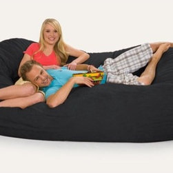 Relax Sacks - Giganti Sac Bean Bag Sofa - This oval shaped version of the classic bean bag chair is the Cadillac of modern foam filled chair. Relax Sacks are often touted by fans as, ''the most comfortable chair in the world''. They are a perfect way to create a relaxed, informal setting or liven up your home theatre, gaming room or playroom. Giant foam sofa sacks are perfect for watching TV, gaming, listening to music or just relaxing. Relax Sacks are comprised of only the finest materials available, far exceeding those of other brands. Double top stitched seams on both inner liner and outer covers securely bond the highest grade fabric to ensure no failures occur for years to come. Unlike the classic bean bags of the 70's which were filled with styrofoam beads that quickly broke down and lost their shape, our polyurethane foam is made in the USA, trimmed in US furniture factories, and finally shredded and stuffed in our facility located in the heartland of America. Over a dozen years of research and fine tuning have combined to create a perfect marriage between such factors as: size, density, and amount of shredded foam, breathability, durability, and comfort of fabric, size, brand, and safety of zippers. Consider carefully all factors when purchasing this piece of furniture and remember not all giant foam bag chairs are created equal. Restoring the puffiness of your chair is easy, simply roll it around on the floor until you have sufficiently fluffed the life back. We strongly suggest you frequently fluff your chair to maintain the integrity and soft feel of the foam. Features: -Premium YKK 5 zippers.-Durable 220 GSM fabric.-Double top stitched seams.-ISTA 3A certified.-Machine washable zip-off cover.-Collection: Giganti.-Distressed: No.-Country of Manufacture: United States.Specifications: -USA made foam 2CFW.Dimensions: -Overall Product Weight: 90 lbs.Warranty: -1 Year warranty.