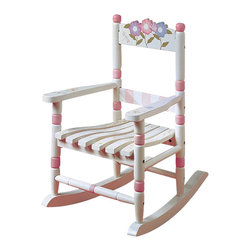 Teamson Design - Teamson Kids Bouquet Hand Painted Girl's Rocking Chair - Teamson Design - Kids Rocking Chairs - W5147G. A cute addition to the bouquet collection this hand painted girl's rocking chair has such a beautiful theme every girl will want one!