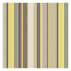 Purple & Green Modern Stripe Fabric - Red, orange, yellow & taupe multi stripe that feels modern with a need for speed.Recover your chair. Upholster a wall. Create a framed piece of art. Sew your own home accent. Whatever your decorating project, Loom's gorgeous, designer fabrics by the yard are up to the challenge!