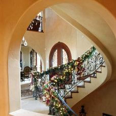 Mediterranean Staircase by Gayle Berkey Architects