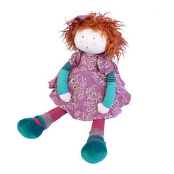 Magic Forest - Moulin Roty Fanette Rag Doll - Welcome Raggedy Ann's adorable French cousin to your home. This brightly dressed, bean-filled poppet is a huggable heart-melter sure to delight kids of all ages.