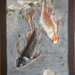 Koi Fish Colored Pencil -