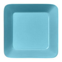 Iittala - Teema Square Plate Turquoise - A chic square plate is a great alternative to traditional round dinnerware. Your meals are sure to take on a sophisticated feel on these modern plates. And cleanup is a breeze since these are dishwasher safe!