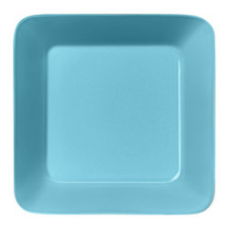 Iittala - Teema Square Plate, Turquoise - A chic square plate is a great alternative to traditional round dinnerware. Your meals are sure to take on a sophisticated feel on these modern plates. And cleanup is a breeze since these are dishwasher safe!