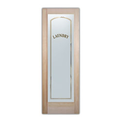 Sans Soucie Art Glass - Classic Arch Laundry Room Door - Laundry Room Door with Sandblast Etched Glass - Classic Arch Laundry Room Door - Quality, hand-crafted sandblast etched glass.