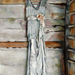 """Denise H. Cooperman - """"Wedding Gown"""" by Denise H. Cooperman, Original Oil Painting - Original Oil Painting of """"WEDDING GOWN""""  by Denise H. Cooperman.  Painting includes a custom 3"""" hand carved wood frame specifically selected to enhance the painting. Size listed is the canvas measurement. This painting is part of the wedding series."""