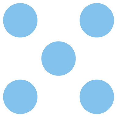 Brewster Home Fashions - Way Cool Blue Dots Pastel Circle Wall Accent Stickers - FEATURES: