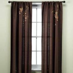 Chf Industries Inc. - Alesandra Tailored Window Panel - This elegant window panel has a faux silk finish and is adorned with embroidered flowers for a touch of subtle grace. A great way to bring sophistication to your windows.