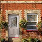 Smooth Skin Fiberglass Door Series - 3/0 x 6/8 Smooth Skin Series: Six Panel w/ Kensington Doorlite ---