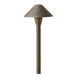 Hinkley Lighting - Hinkley Lighting 16010MZ Hardy Island Hammered Cast Brass Path Light - This heavy duty SOLID CAST BRASS COLLECTION is a striking collaboration of form and function. Named for the ruggedly beautiful island off the coast of British Columbia that bears its name, Hardy Island™ is designed to withstand the harshest environments in style. HardyIsland™ offers fully enclosed lamps, features a weathered brass finish that will mature naturally over time and isbacked by an extended warranty.