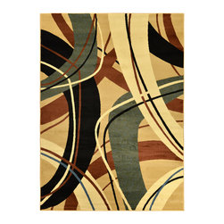 None - Manhattan Collection Multi-Color Contemporary Abstract Design High Quality Area - This gorgeous Manhattan Collection rug features a multi-color contemporary abstract design to wonderfully add to home decor.