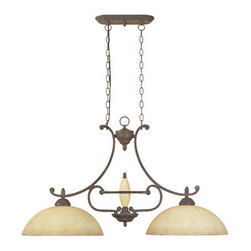 Designers Fountain - Designers Fountain 81038-AO 2 Light Island Fixture Salerno Collection - Features: