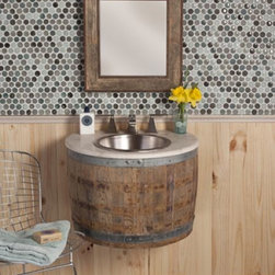 Wine Barrel Vanities - Add sophistication to any bathroom! Perfect for wine aficionados.