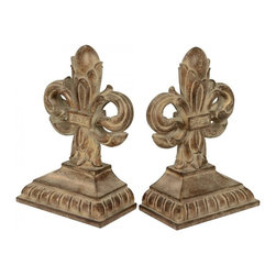 Sterling Industries - Pair Imperial Iris Bookends - Pair Imperial Iris Bookends
