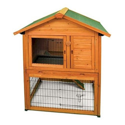"""Premium Plus Bunny Barn - Our Premium Plus Bunny Barn Is The Perfect Shelter For Your Pet. The Ware Premium + Bunny Barn Presents A Unique New Concept For The Discriminating Rabbit Owner.   The Top Floor Of The Bunny Barn Offers A Comfortable Living Space And Built In Nest Box While The Bottom Floor Serves As An Enclosed Pasture. Additional Premium Rabbit Cage Features Include A Fully Opening Roof For """"Ez"""" Access, Slide-Out Floor For Cleaning And A Locking Door For Security.   Made From Fir Wood Sealed With Waterproof Non-Toxic Stain And Heavy Duty Powder Coated Wire. This Rabbit Hutch Makes A Fashionable Multi-Level Outdoor Home For Your Rabbit. Your Bunny Will Enjoy The Living Space On Either Level!   Features:  *Dimensions: 37.5"""" W X 31.5"""" D X 47"""" H *Fashionable Two Level Outdoor Home With Pasture *Fully Opening Roof *Slide Out Floor *Easy Access To All Areas *Shipped Insured *Brand New"""