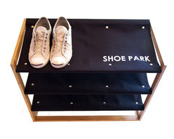 Great Useful Stuff - Bamboo Storage Collection Shoe Park - Whether you're organizing your own shoes in the closet or building a place for your guests to rest their shoes at your home's entrance, a chic shoe rack is a must. Three canvas shelves are sturdy enough to hold multiple pairs of shoes and boots and the linings can even be removed for cleaning. It's the perfect storage solution for any room in the house.