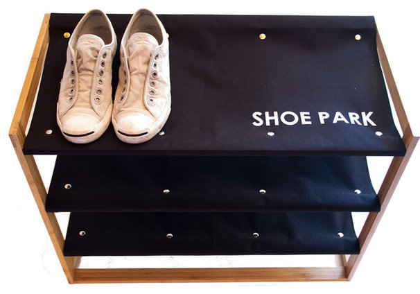 Contemporary Shoe Storage by Great Useful Stuff