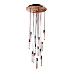 Reclamations - CANDELIER Industrial Inspired Chandelier - The Candelier ceiling light is an industrial chandelier that is inspired by America's abandoned factories and boat yards from the early 20th century.