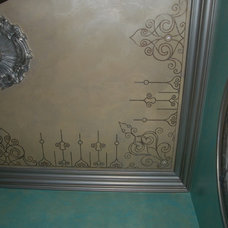 Eclectic Powder Room by Fabulous Finishes Inc