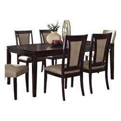 Steve Silver Furniture - Steve Silver Wilson Rectangular Extension Dining Table in Espresso - Simple lines with a rich finish: this table blends function with elegance, and suits most any decor. leaf extends table to 6.5 feet in length to fit 6 or more.