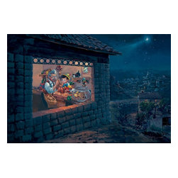 Disney Fine Art - Disney Fine Art The Wishing Star by Rodel Gonzalez - The Wishing Star by Disney Fine Art  -  Limited To 195 Pieces World Wide  -  Size: 20 x 30 Inches  -  Medium: Hand-Embellished Giclee on Canvas  -  Hand Signed By The Artist: Rodel Gonzalez  -  Produced by Collector's Editions  -  Fully Authorized Disney Fine Art Dealer  -  Ships Rolled in a Tube  -  From The Walt Disney Motion Picture Pinocchio