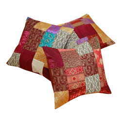 Indian Patchwork Cushion Cover -