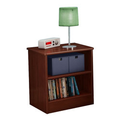 South Shore - South Shore Libra Night Stand in Royal Cherry - South Shore - Kids Night Stands - 3046059 - This contemporary night stand features simple lines that blend right into any decor. It offers open storage for easy-access to bedside items and rounded corners for safety.