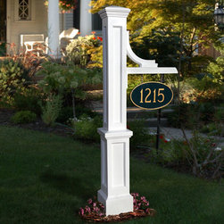 Woodhaven Address Sign Post - Display your house number or family name with pride on the Woodhaven Address Sign Post. Made of polyethylene and built-in UV inhibitors, this sign provides long lasting beauty and is low maintenance.