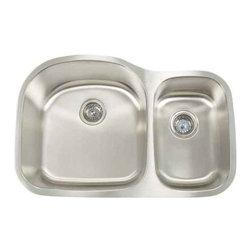 Artisan Manufacturing - Artisan 18-Gauge 31 1/8 x 20-1/2 60/40 Sink - MH-3220D87 Artisan Manufacturing Manhattan Double Bowl Undermount 18 Gauge Kitchen Sink