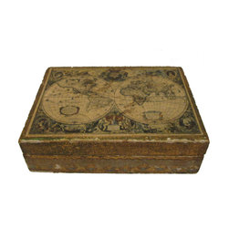 Italian Florentine Box - A small decorative Florentine box with old world pictures on top of box.